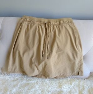 GREENTEA SKORT Large Tan Drawstring Athletic
